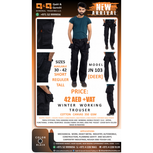 WINTER WORKING TROUSER  MODEL JN103 [DEER]