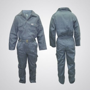 P989GY Cotton Pre-Shrink Coverall Gray