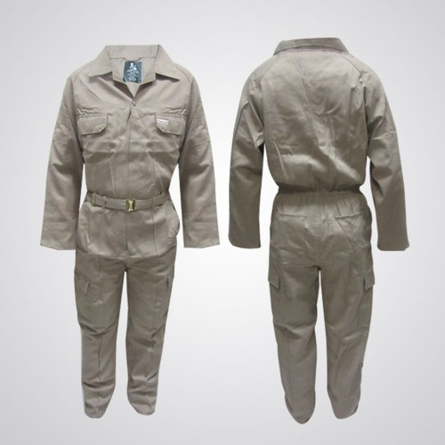 Cotton Pre-Shrink Coverall Khaki