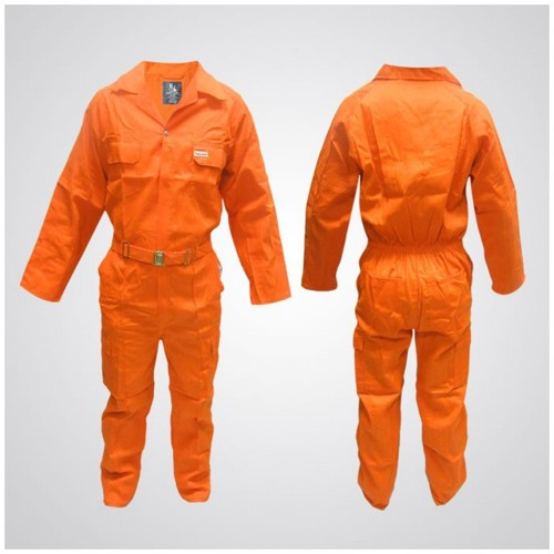 Cotton Pre-Shrink Coverall Orange