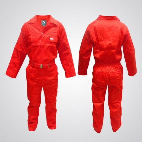 Cotton Pre-Shrink Coverall Red