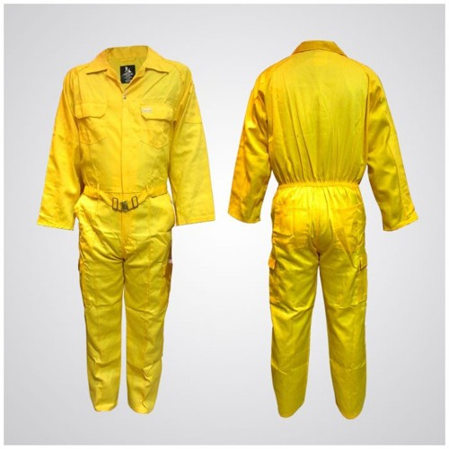 Cotton Pre-Shrink Coverall Yellow