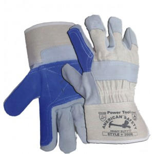 Rubberized Cuff Double Palm Canvas Gloves