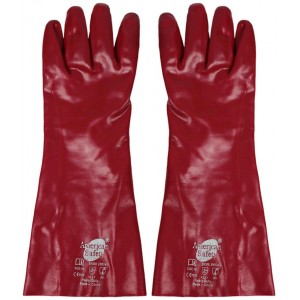 Glove PVC Dipped Gauntlet