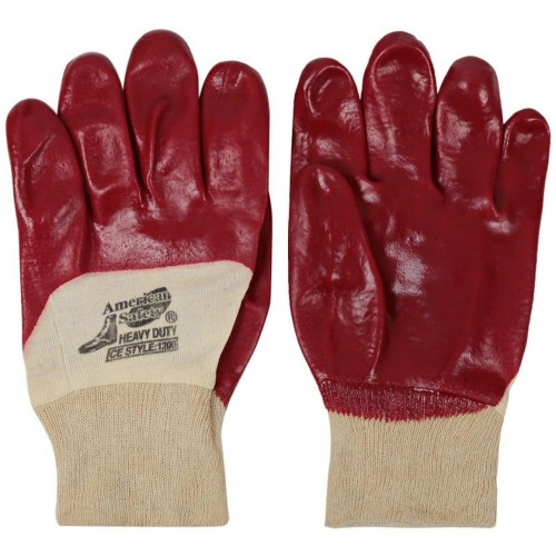 Glove Half Coated PVC Dopped