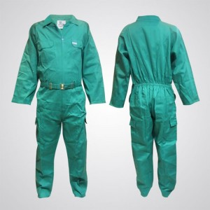 P989GR Cotton Pre-Shrink Coverall Green