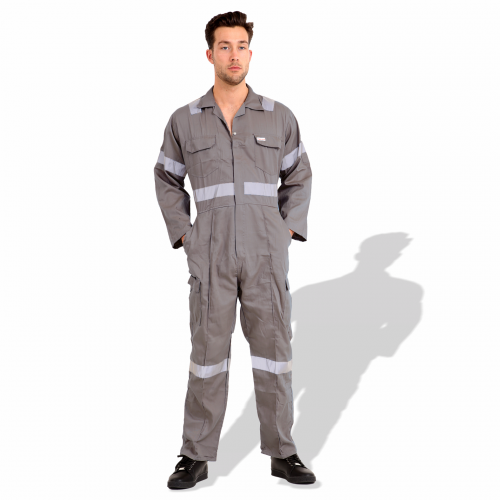 Twill Cotton Coverall with Reflective Tape R991