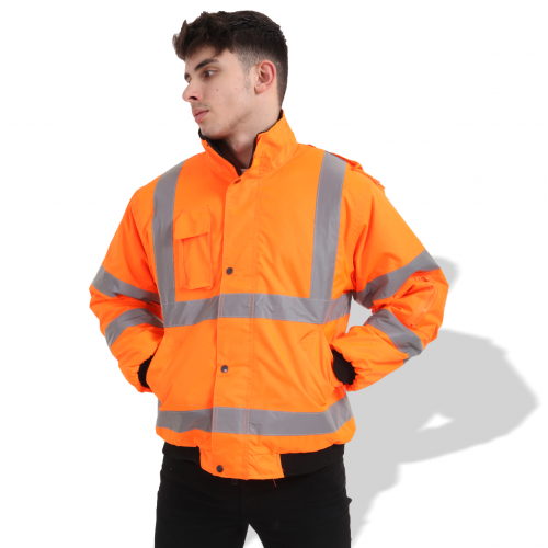 FP1657 Fluorescent Parka with Reflective Tape