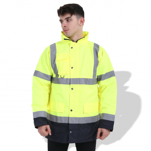 FP1659 Fluorescent Parka with Reflective Tape