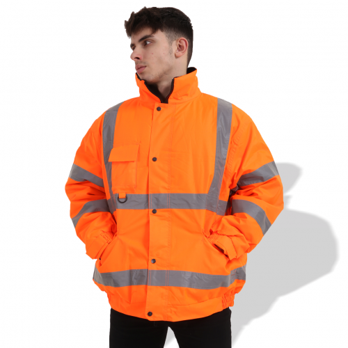 FP1656 Fluorescent Parka with Reflective Tape