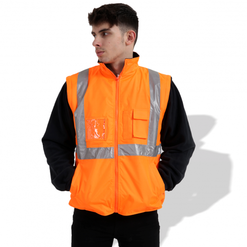 FP1652 Fluorescent Parka with Reflective Tape