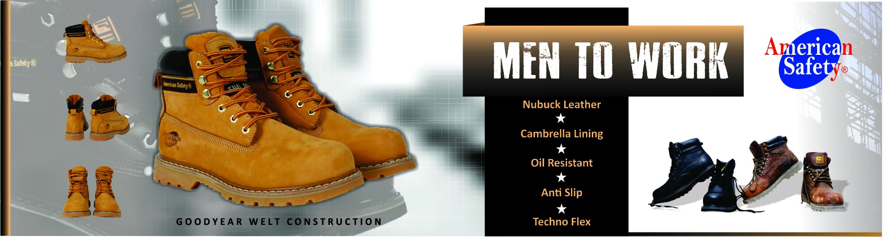 American Safety Genuine Leather Safety Shoes